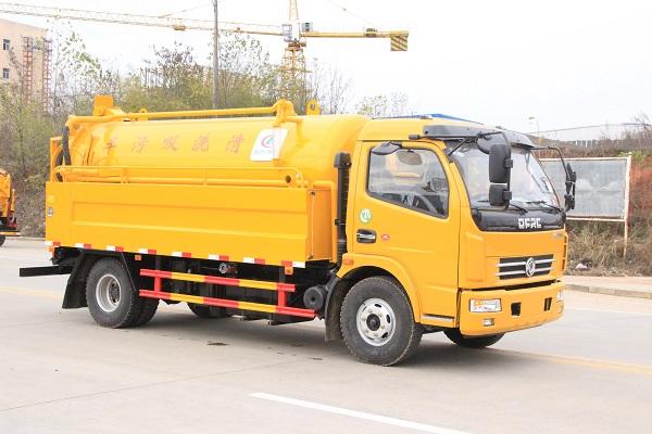 东风多利卡D7清洗吸污车|8方CLW5115GQW5工程黄